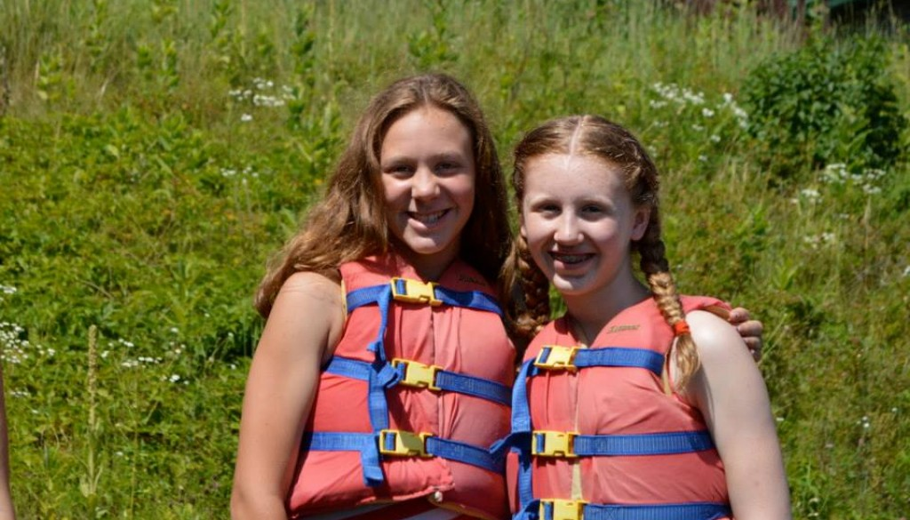 Campers at WeHaKee in life jackets
