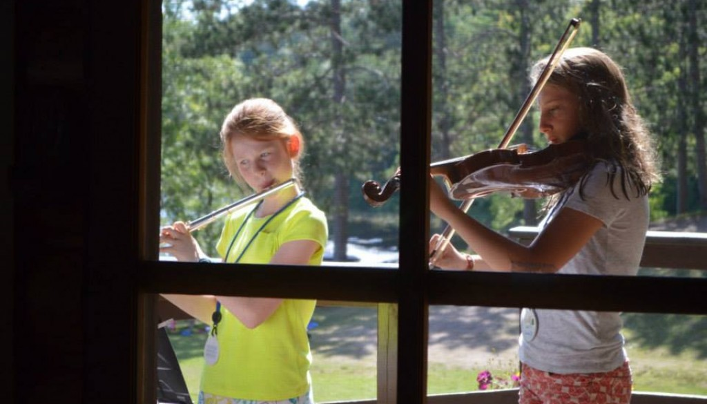 WeHaKee campers playing instruments