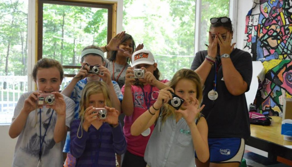Campers doing photography