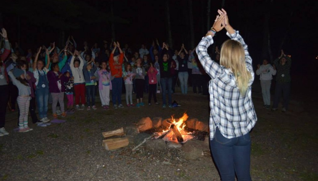 Singing by the bonfire
