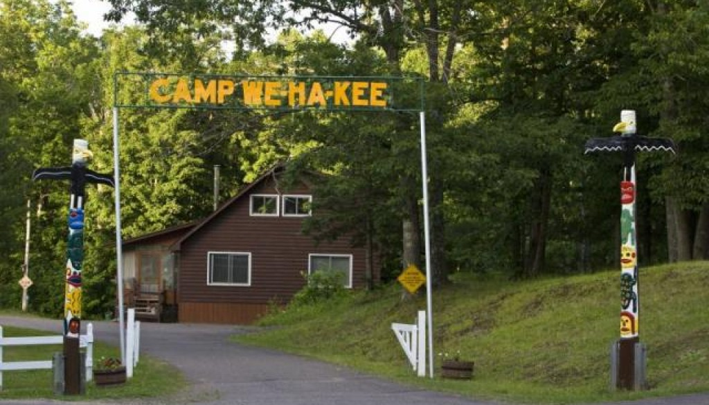 Camp WeHaKee Entrance