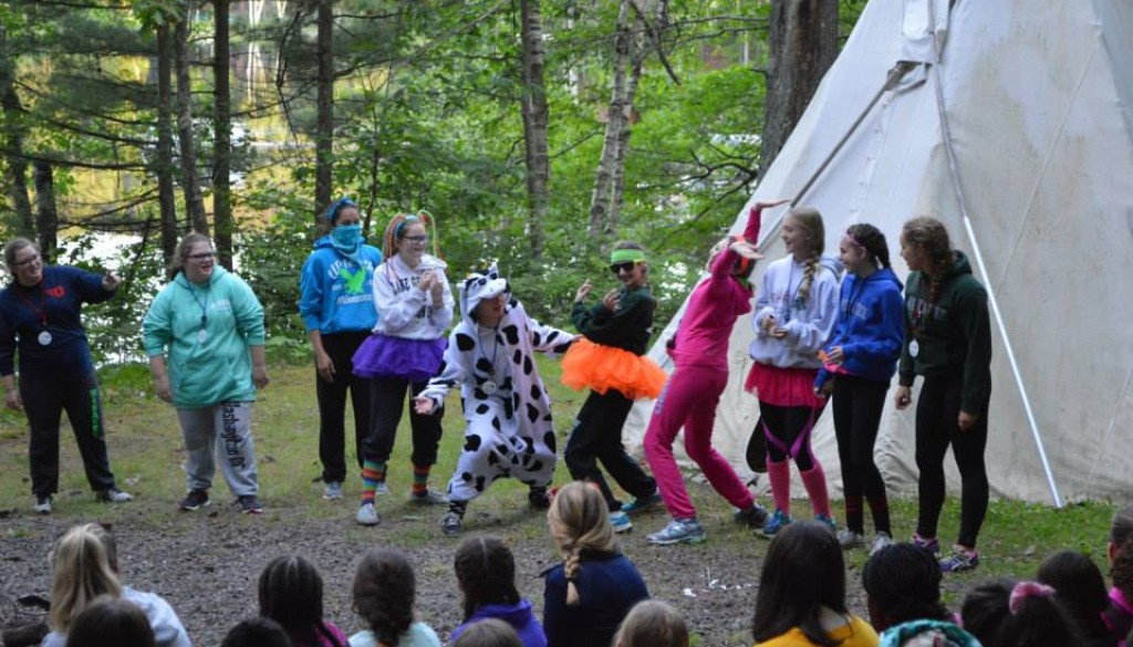 Dressing up at WeHaKee Camp for Girls