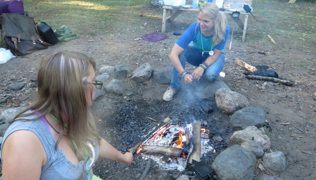 WeHaKee Campers Roasting Marshmallows