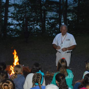 Council Fire with Bob and Campers.