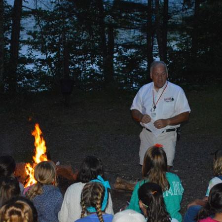 Bob at a council fire