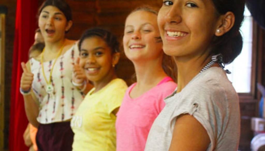 Campers at WeHaKee Smiling