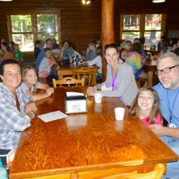 Family dinner at Family Camp