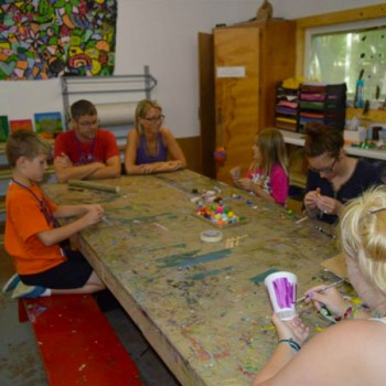 Crafting at WeHaKee Family Camp