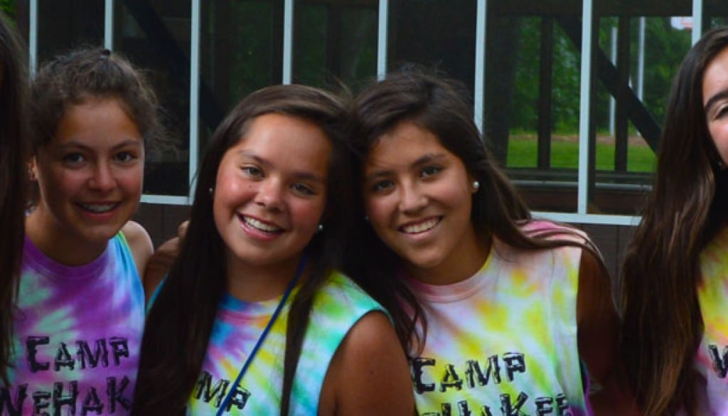 Happy international campers at WeHaKee Camp for Girls