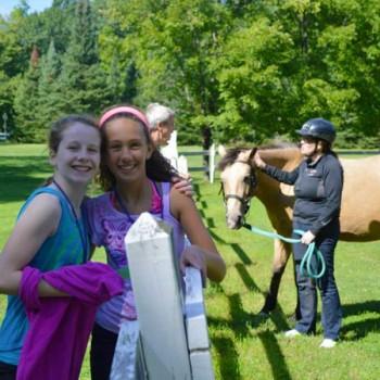 Horseback riding at WeHaKee Family Camp