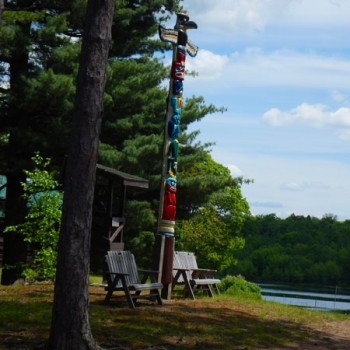The totem pole at WeHaKee Camp for Girls
