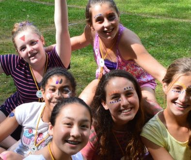 WeHaKee campers with painted faces