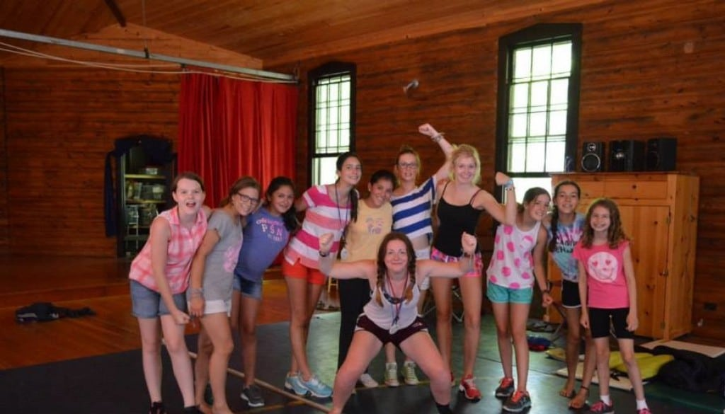 WeHaKee Camp for Girls campers after a workout.