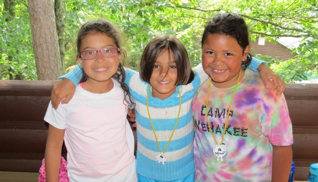 WeHaKee Camp for Girls smiling campers.