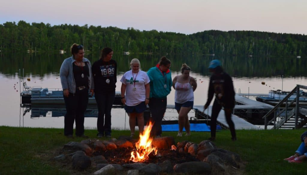 WeHaKee Camp for Girls staff training in 2016.