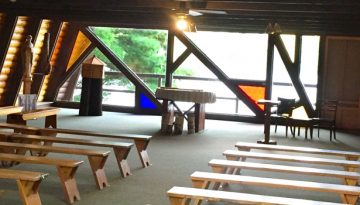 WeHaKee Camp for Girls Chapel on the inside.