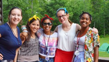 2017 Campers friends at WeHaKee Camp for Girls.