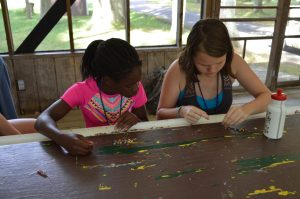Campers Making Crafts