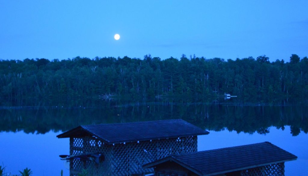 Dusk at WeHaKee Camp for Girls lakeside.