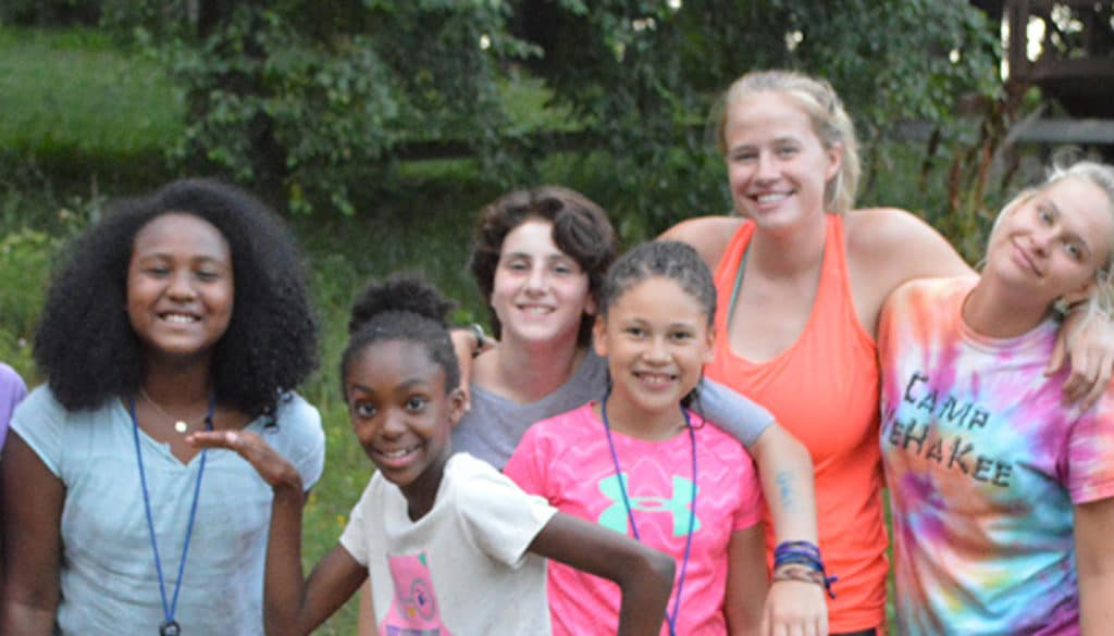 WeHaKee Camp for Girls campers in the outdoors.