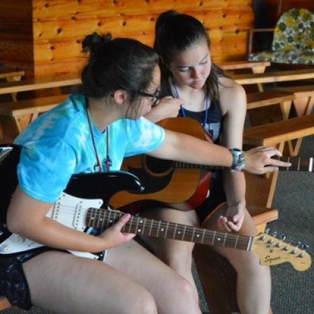 Campers Making Music