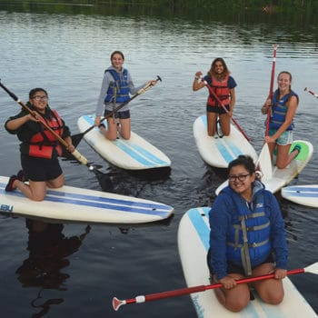 Paddle Boarding At WeHaKee Camp for Girls