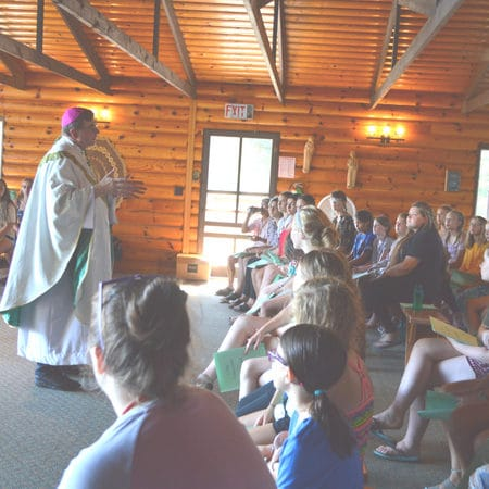 Discussing faith at WeHaKee