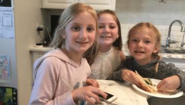 Girls Smiling at the Camera