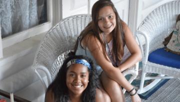Girls Smiling at Camera