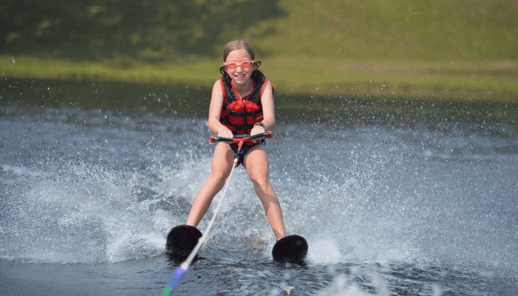 WeHaKee Camp For Girls Camper Water Skiing