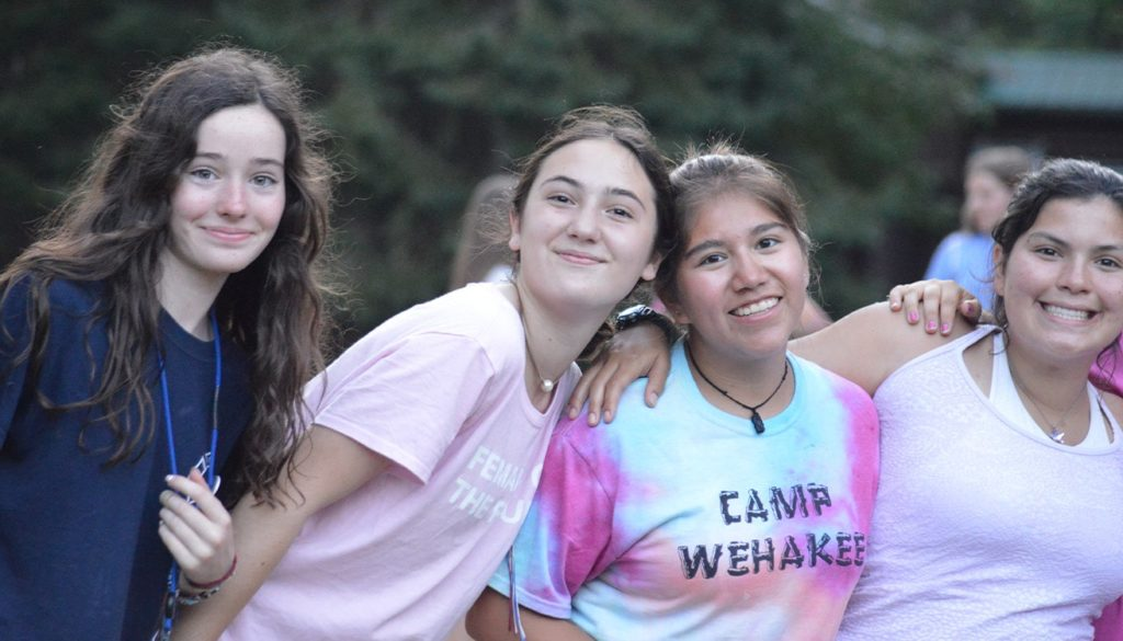 WeHaKee Camp For Girls, campers making lasting friendships.