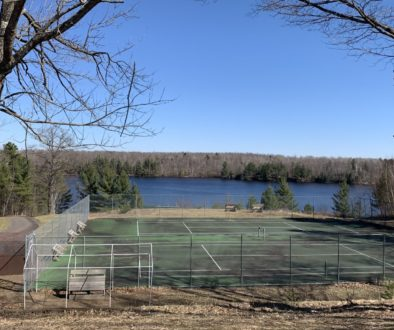 WeHaKee Camp for Girls tennis court pre-summer