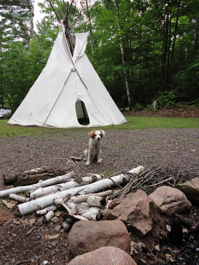 WeHaKee Franky at teepee
